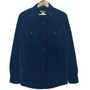 Eddie Bauer Dark Blue 100% Cotton Button Up Size S
